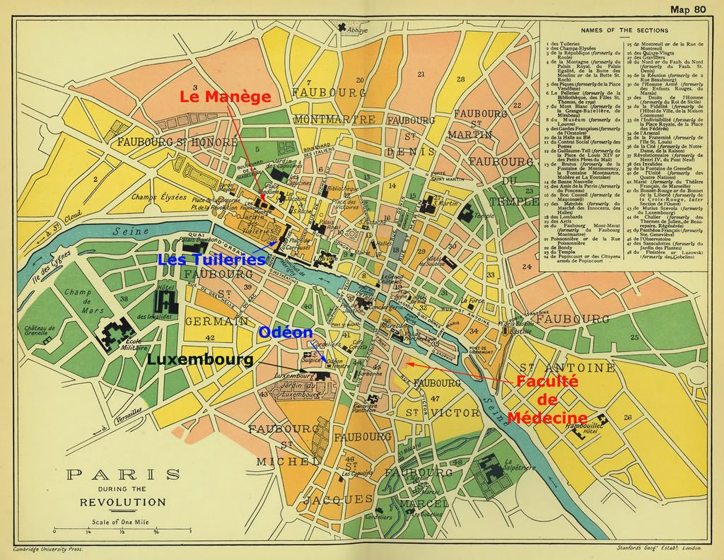 Les 48 sections de Paris